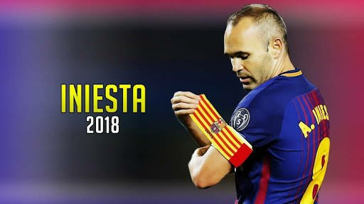 Iniesta wearing the captain's armband