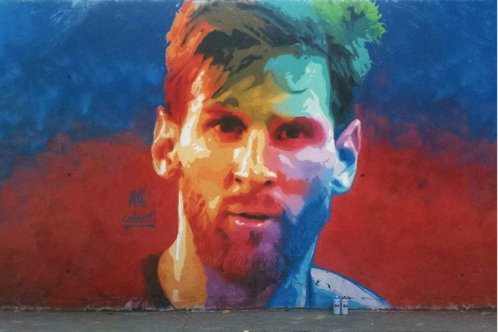 Lionel Messi graffiti