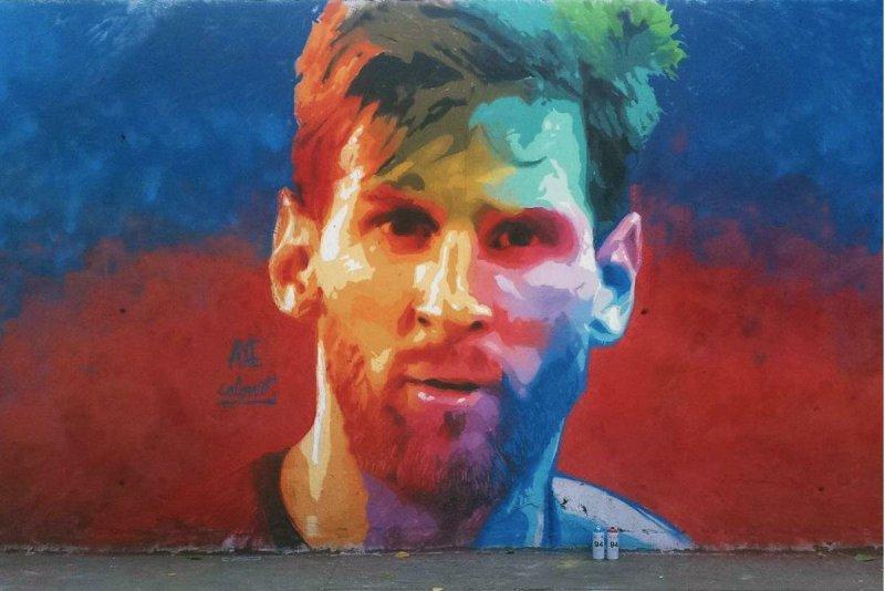 Lionel Messi graffiti