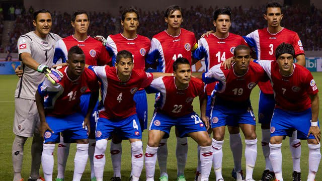 Costa Rican team for the World Cup