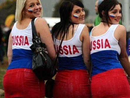 Russian fans at the World Cup 2018