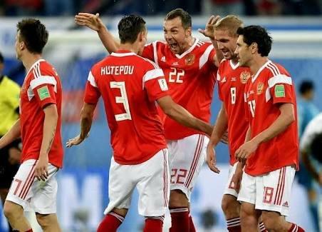 Russian team celebration