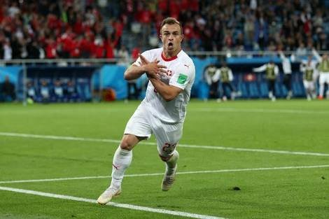 Xerdan Shaqiri celebrating