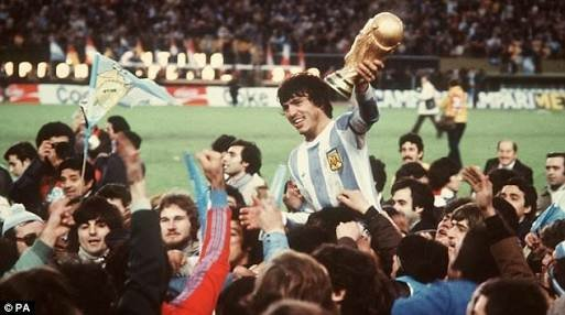 Daniel Pasarella with 1978 world cup