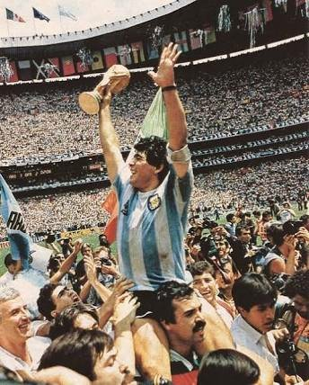 Diego Maradona with 1986 world cup