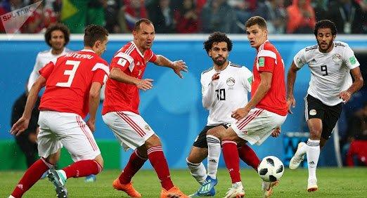 Mo Salah in action