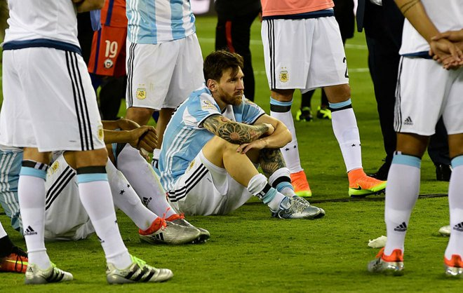 Messi after Copa America loss