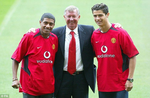 Cristiano signed for Manchester United