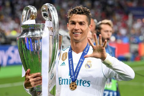 Cristiano Ronaldo winning Champions League