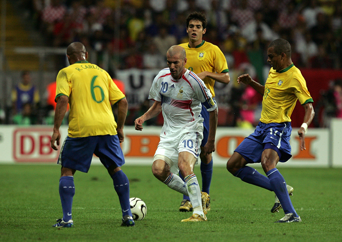 Zinedine Zidane great performance against Brazil in 2006