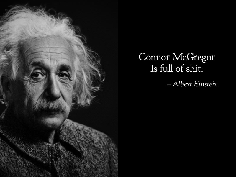Albert Einstein funny on Connor McGregor